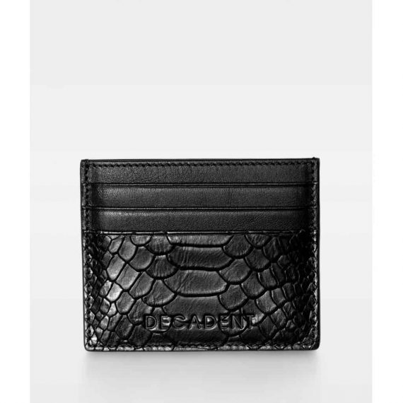 DE267 Decadent Isla two side card holder anaconda black forside