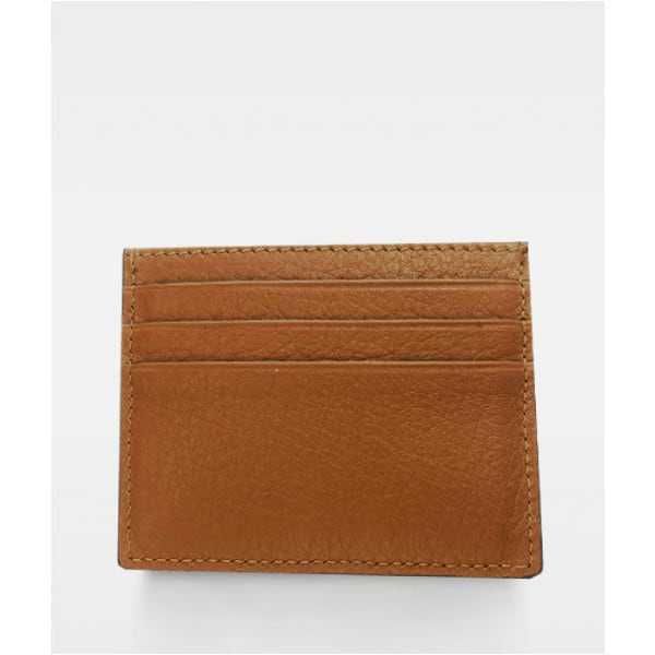 DE267 Decadent Isla two side card holder cognac bakside