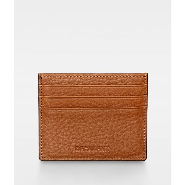 DE267 Decadent Isla two side card holder cognac forside