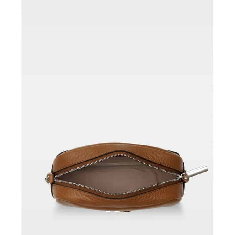 DE274-B Michelle tiny bag cognac åpen