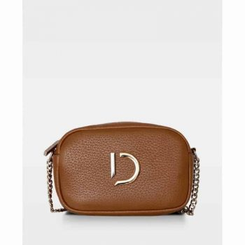 DE274-B Michelle tiny bag cognac forfra