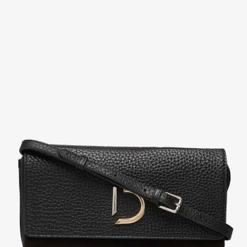 DE294 DECADENT Kristin Flap Bag Sort Forside