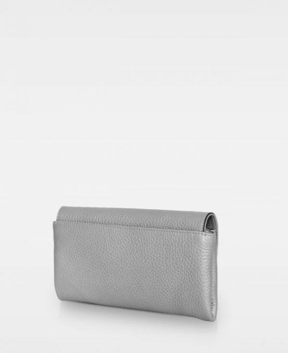 DE406 Decadent Nora clutch metallic silver bakside