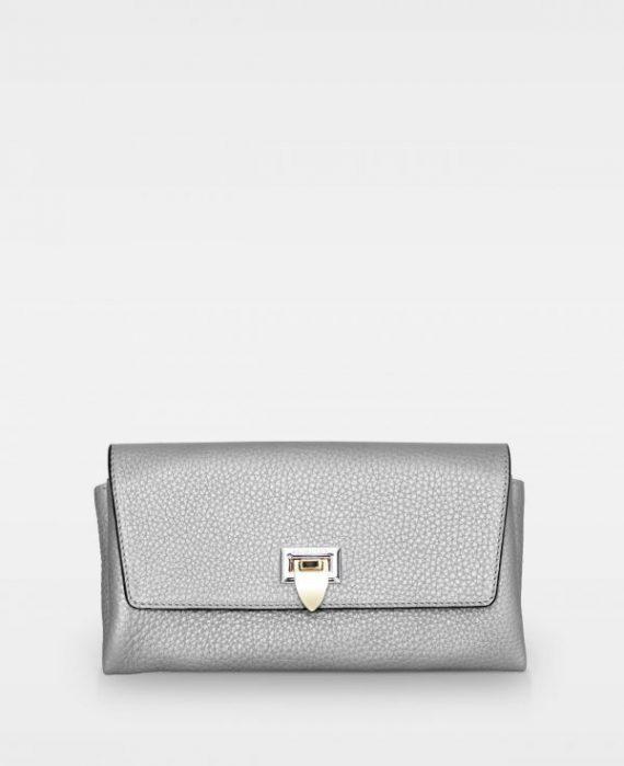 DE406 Decadent Nora clutch metallic silver forside
