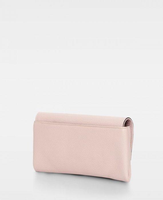 DE406 Decadent Nora clutch soft pink bakside