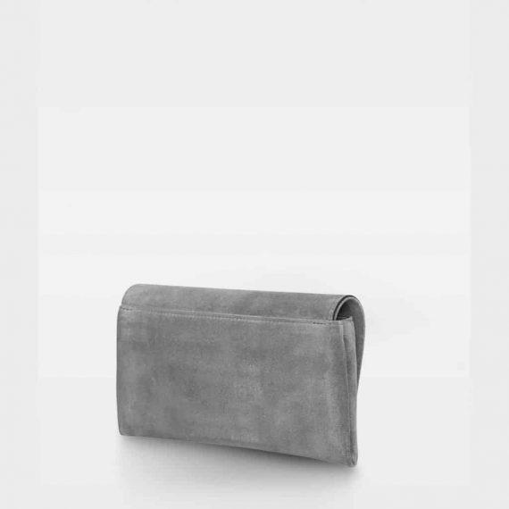 DE406 Decadent Nora clutch suede grey bakside