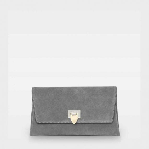 DE406 Decadent Nora clutch suede grey forside