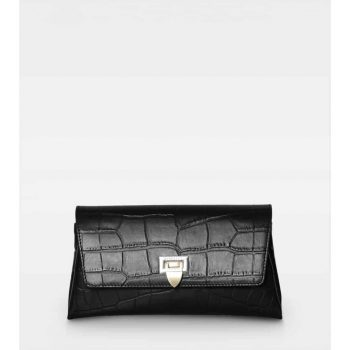DE406-Decadent-Nora-small-clutch-croco-black-forfra
