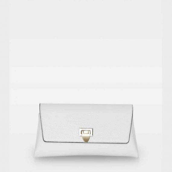 DE406 Decadent Nora small clutch hvit forside