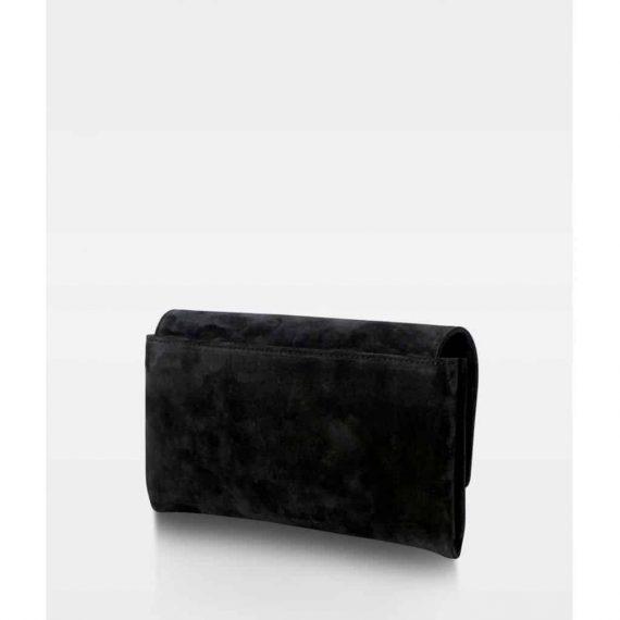 DE406 Decadent Nora small clutch suede black bakside