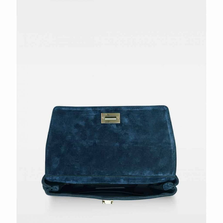 DE406 Decadent Nora small clutch - suede navy - inni
