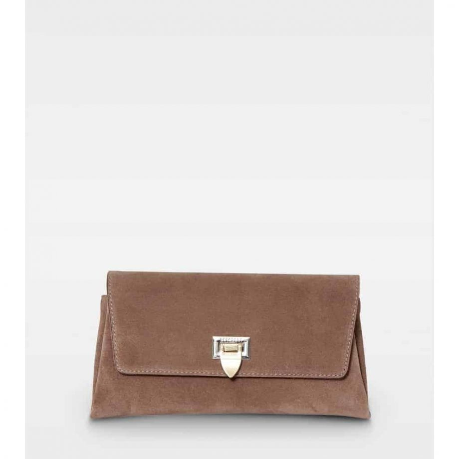 DE406-Decadent-Nora-small-clutch-suede-nougat-forfra