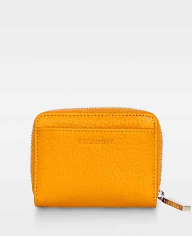 DE438 Decadent Essie mini zip wallet golden yellow forside