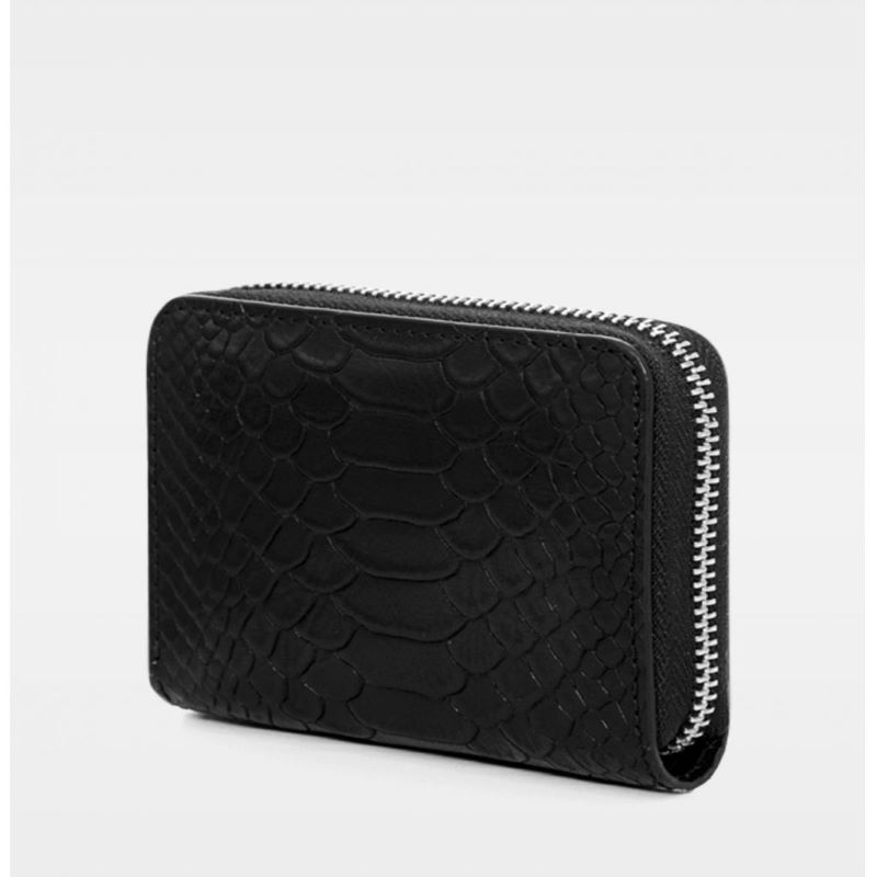 DE438 Essie Mini Zip Wallet anaconda black bakfra