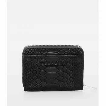 DE438 Essie Mini Zip Wallet anaconda black forfra