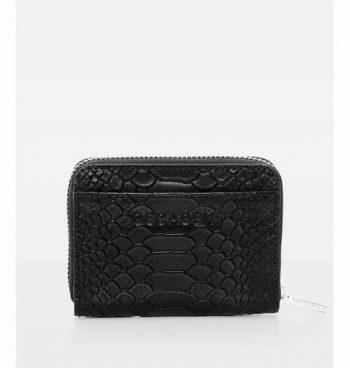 DE438 Essie Mini Zip Wallet anaconda black forfra