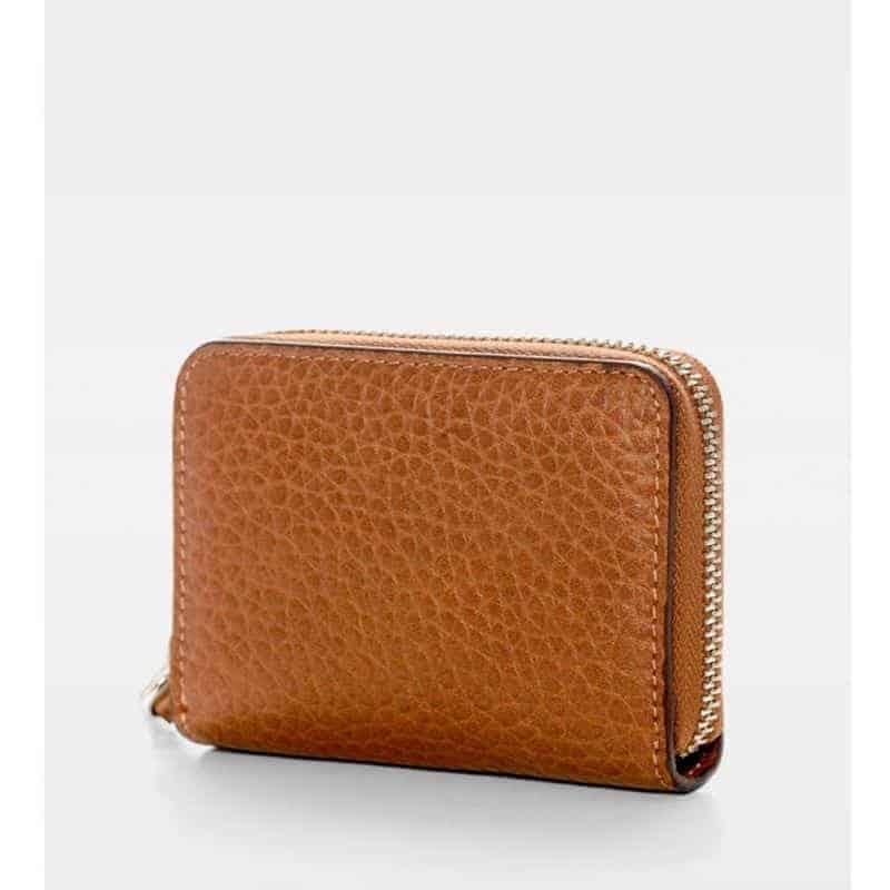 DE438 Essie Mini Zip Wallet cognac bakfra