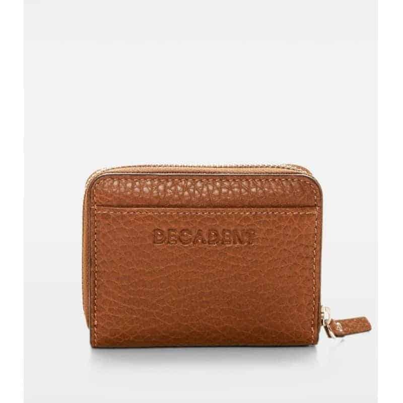 DE438 Essie Mini Zip Wallet cognac forfra