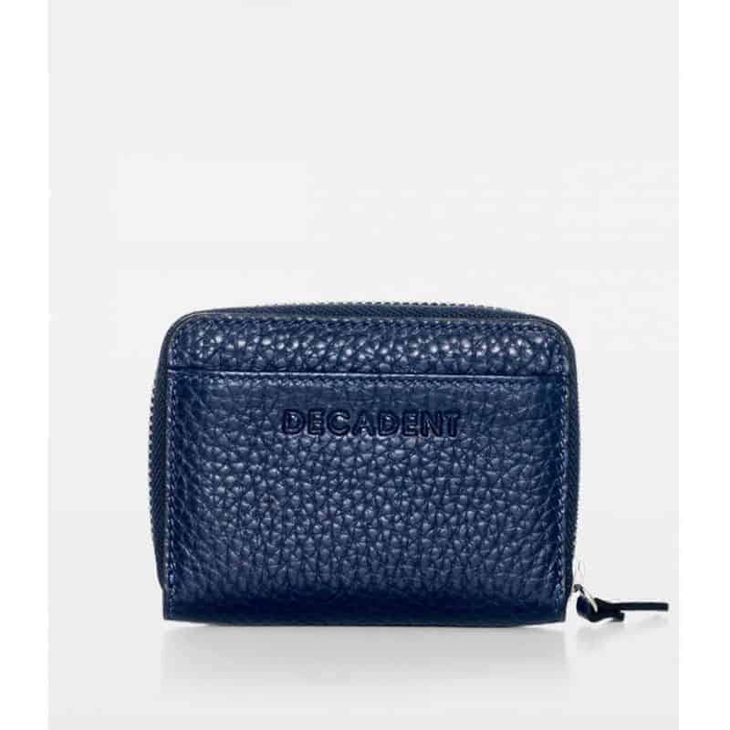 DE438 Essie Mini Zip Wallet navy forfra