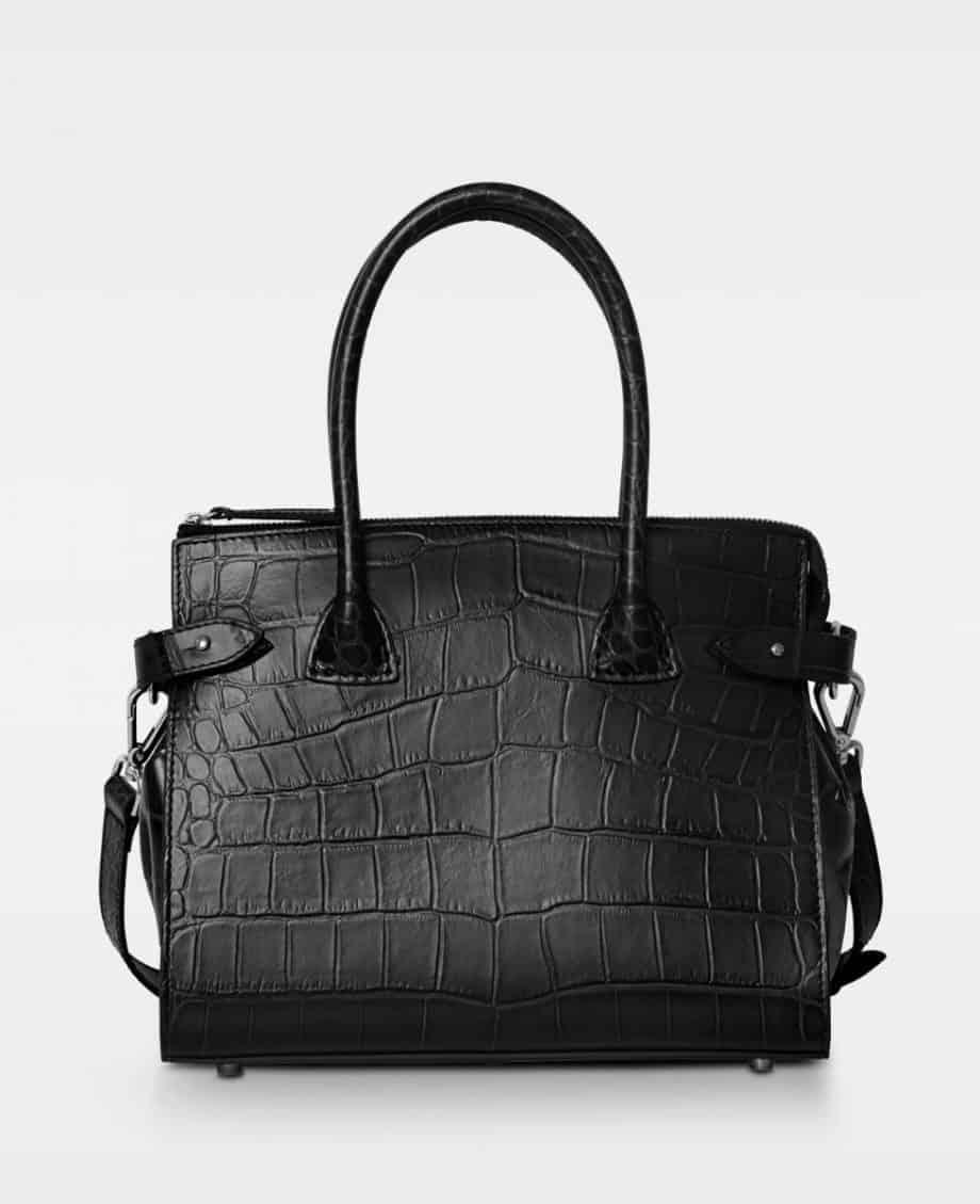 DE468 X-small shopper modell croco black forside