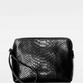 DE502 Decadent Hannah makeup purse anaconda black forside 2