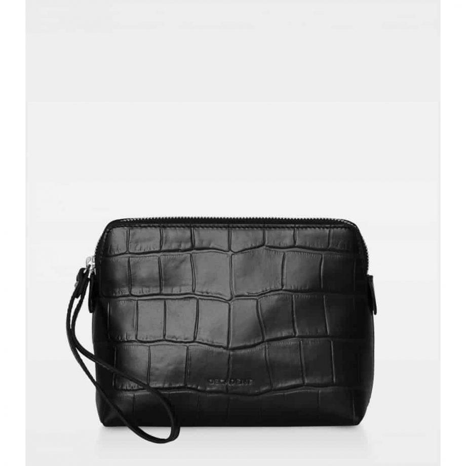 DE502 Decadent Hannah makeup purse croco black forside