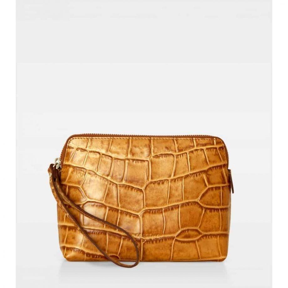 DE502 Decadent Hannah makeup purse croco cognac forside