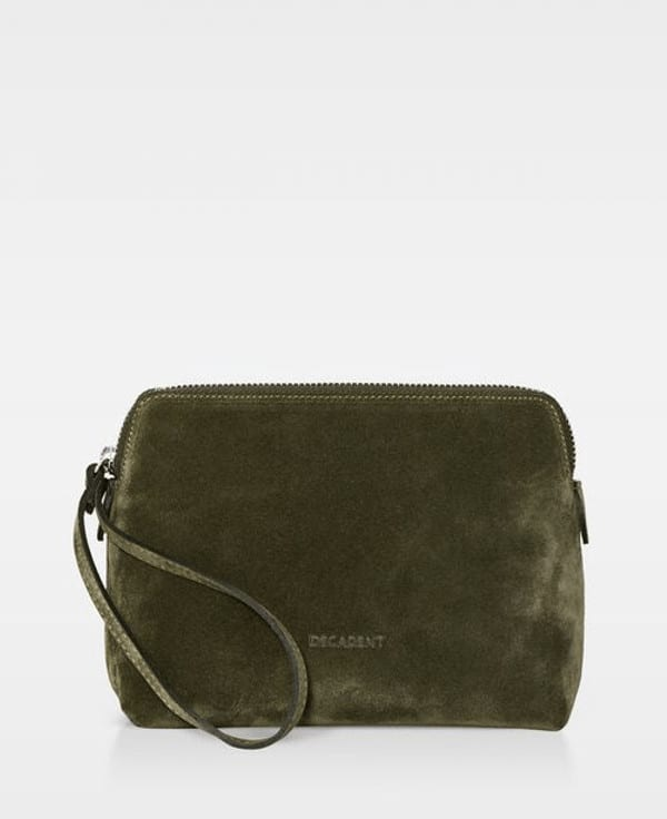 DE502-Decadent-Hannah-makeup-purse-suede-army-forside