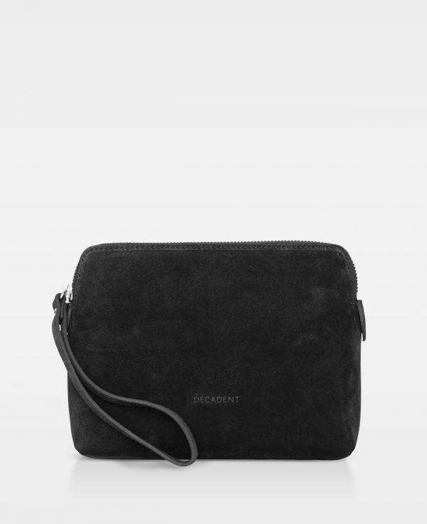 DE502-Decadent-Hannah-makeup-purse-suede-black-sort-forside