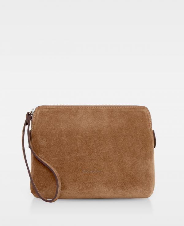 DE502 Decadent Hannah makeup purse suede latte forside