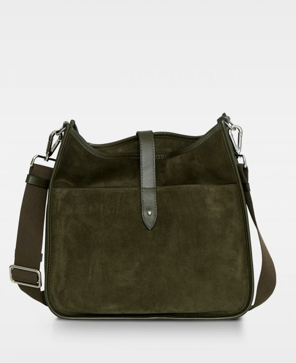 DE522 Decadent Kylie cross body suede army forside