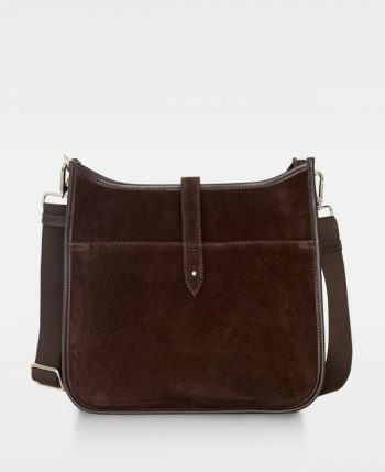 DE522 Decadent Kylie cross body suede dark brown forside