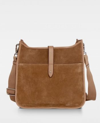 DE522 Decadent Kylie cross body suede latte forside