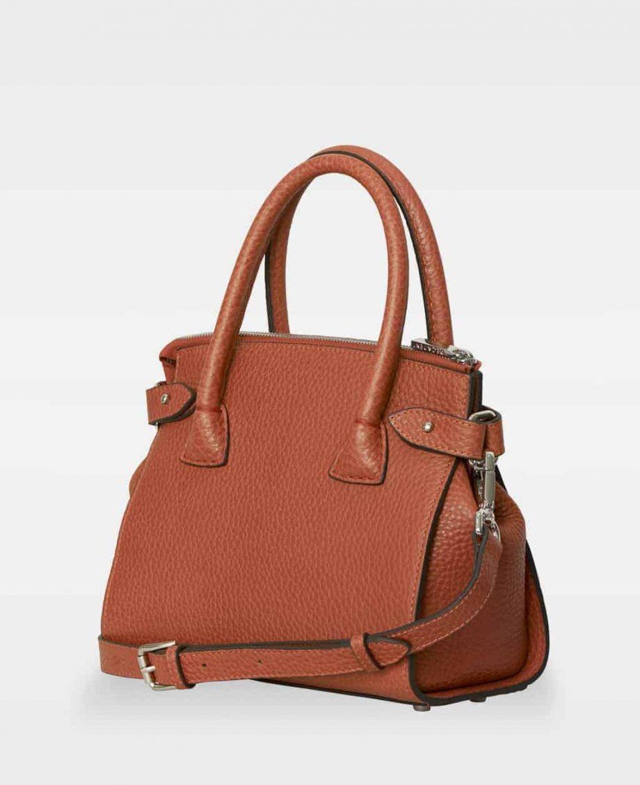 DE592-DECADENT Adele-tiny-shopper-rust-red-fra siden