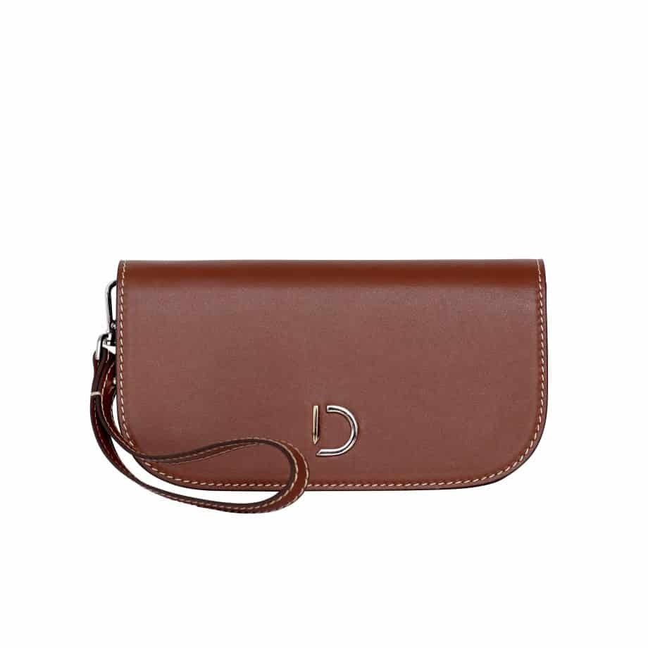 DE734 Maren hand purse cognac forside