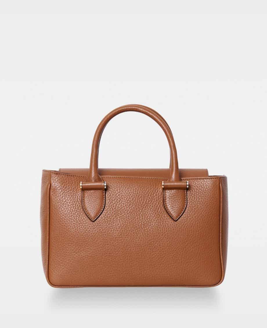 DE738 Olivia Big Handbag Cognac Forside
