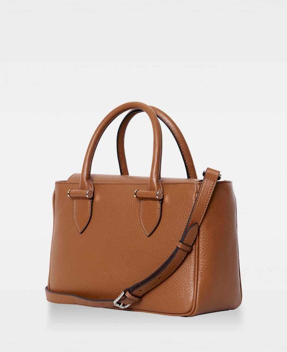 DE738 Olivia Big Handbag Cognac Side