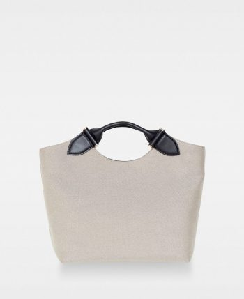 DE740 Tega canvas tote sort forside