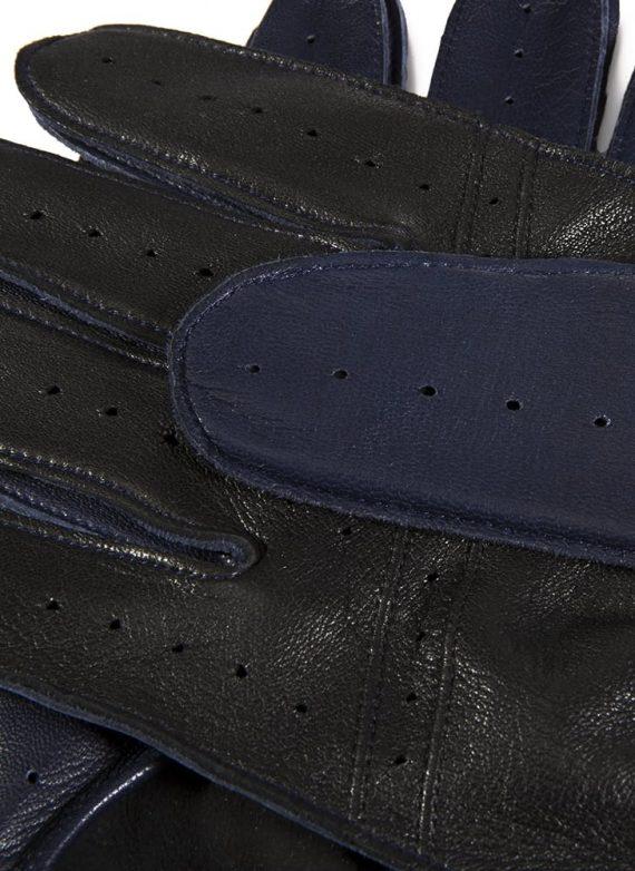 DENTS Waverley kjørehansker, premium hairsheep royal blue detalj underside