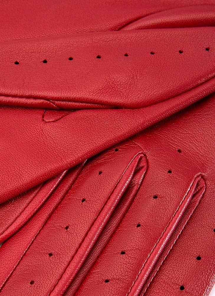 Dents THRUXTON kjorehanske berry red 7-3008