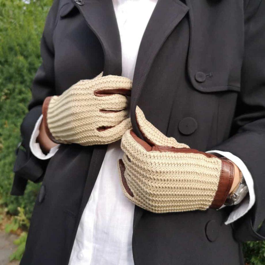 HESTRA Anna – crochethansker til dame med ullfôr