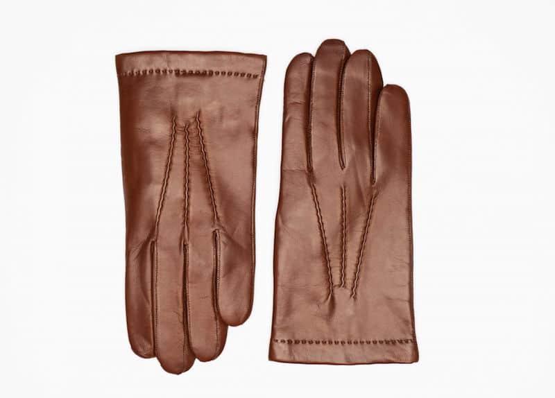 242-1 Herrehansker helpique cashmere Saddle Brown Forside