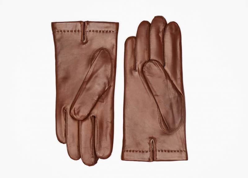 242-1 Herrehansker helpique cashmere Saddle Brown Innside