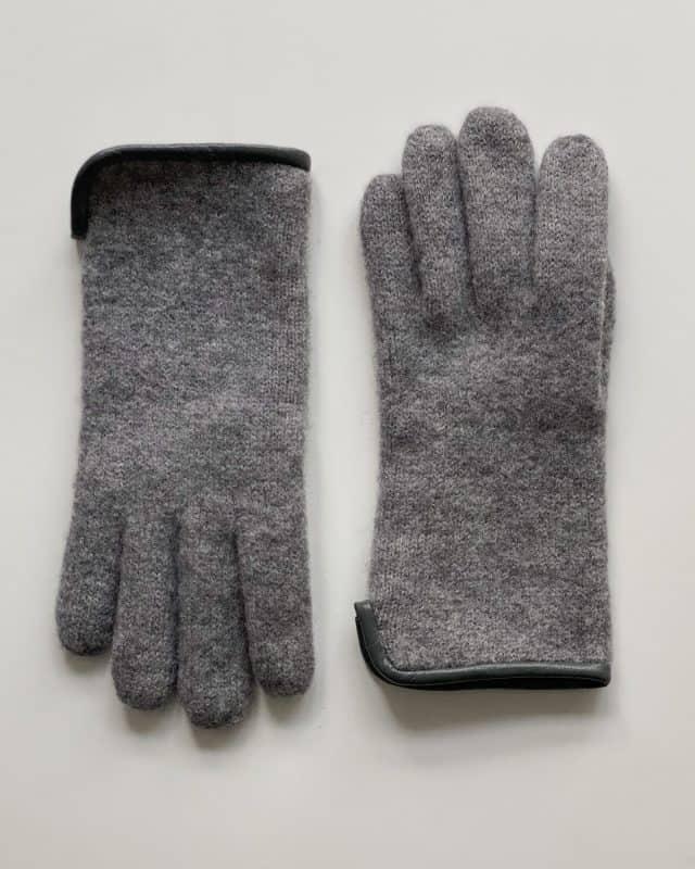 Damevanter tovet ull m skinnkant Grey Forside