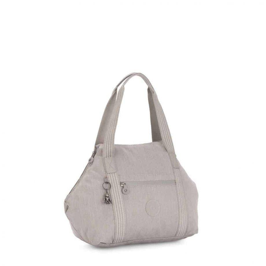 KI312247O Kipling ART Grey Beige Peppery - stroppet inn