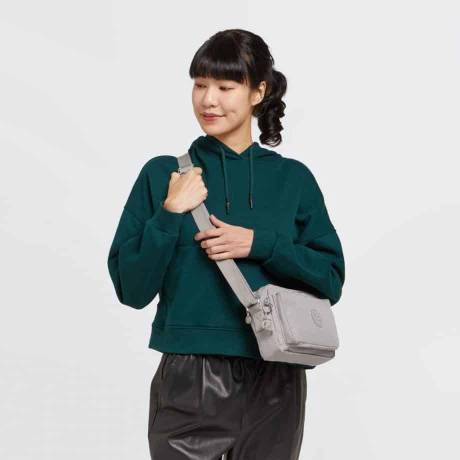Kipling ABANU M Grey Gris Modell