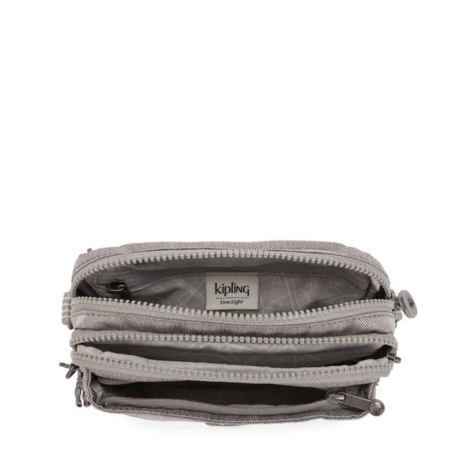 Kipling Abanu Multi Grey Beige Pep open