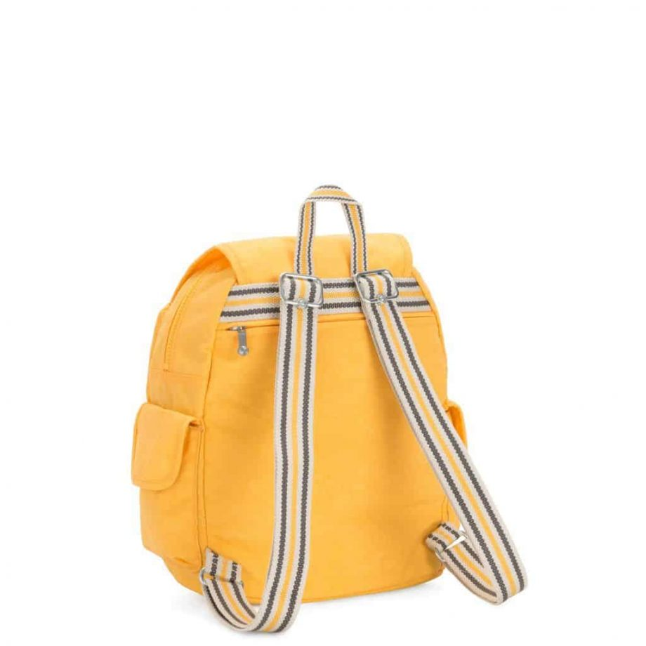 Kipling CITY PACK S Vivid Yellow bakside