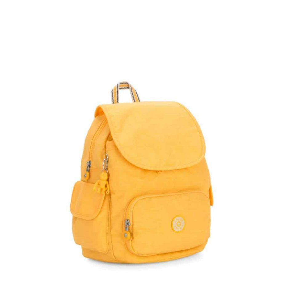 Kipling CITY PACK S Vivid Yellow side