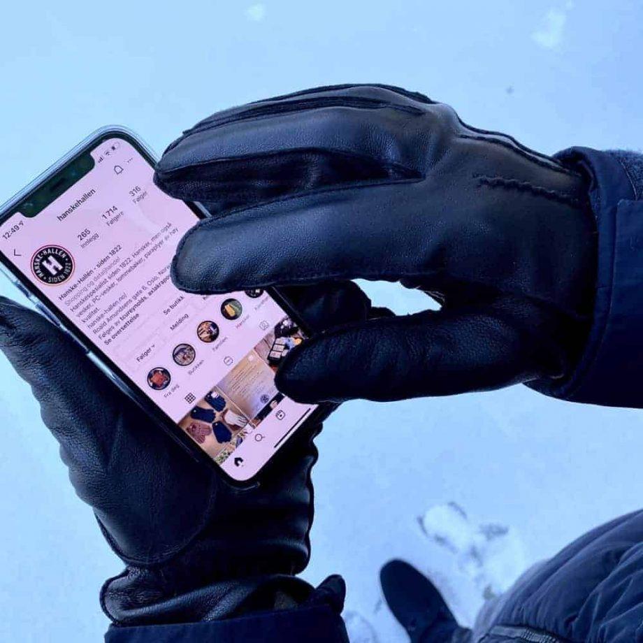 M-5769 LX Tilbudshansker til menn med touch, sheepnappa med ullfôr - touchhansker 3